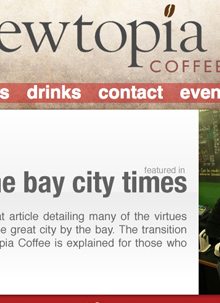 Brewtopia Coffee Downtown Bay City Web Design