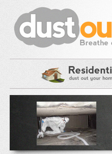 Dust Out Website and Logo Design