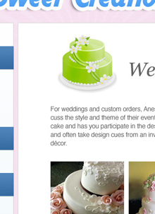 Sweet Creations Michigan Website Design